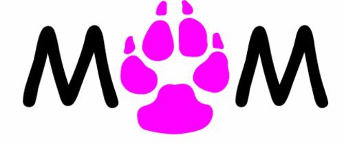 WickedGoodz Vinyl Pink Paw Rescue Dog Decal Animal Shelter Bumper Sticker Perfect Dog Fur Baby Pet Owner Gift