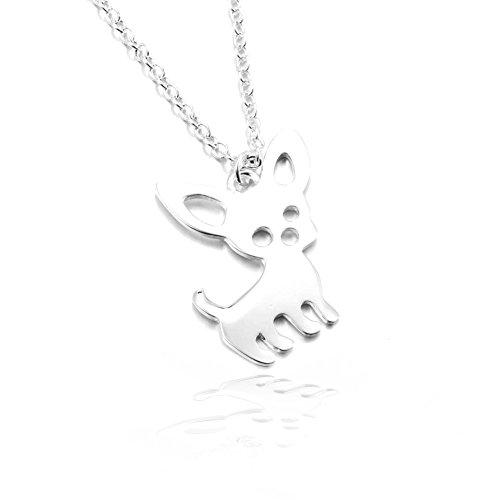 Joji Boutique: Silver Mini Chihuahua Necklace