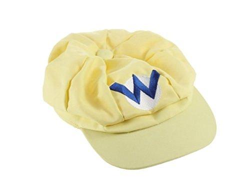 Super Mario Kart Hats: Wario Cap for Halloween Costume: Unisex Cosplay (Wario Yellow) - Mario Kart Toad Costume