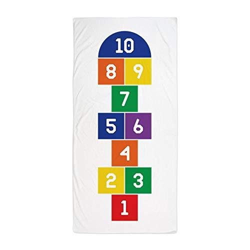 (CafePress Hopscotch Game Large Beach Towel, Soft 30