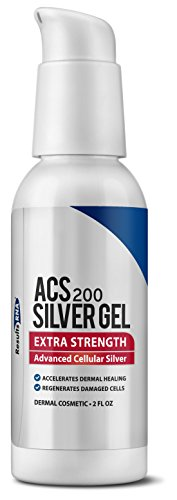 Vita Sol Vitamins - Results RNA ACS 200 Colloidal Silver Extra Strength | Advanced Cellular Silver Topical Gel For Sunburn, Wounds, Rashes, Skin Irritations - 2oz Silver Gel Bottle