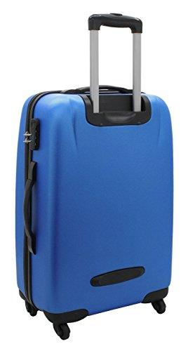 F|23, Hartschalen Trolley, Höhe: 70 cm, Mit Zahlenschloss, 4-Rollen-System, Ipanema, Blau, 77032-57