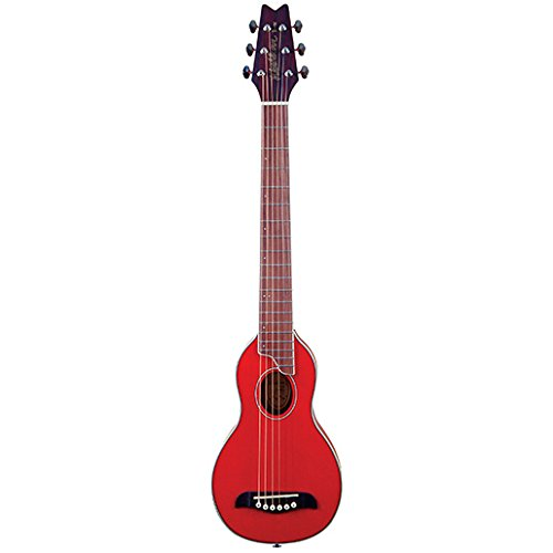 Washburn RO10TR Rover Steel String Travel Acoustic Guitar - Transparent Red