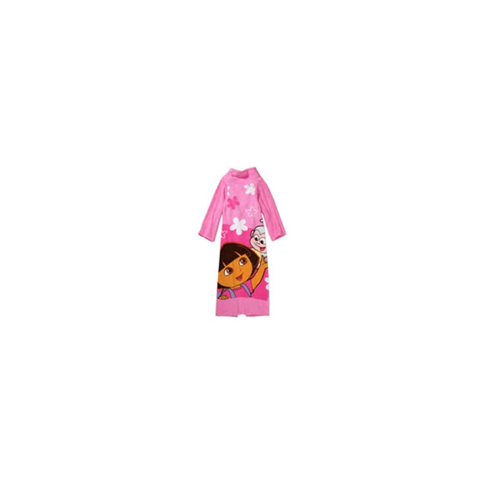 Dora the Explorer Girl Robe Plush Wrap with Sleeves