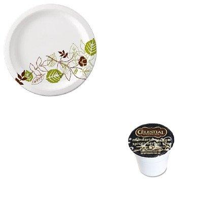 KITDXEUX9WSPKGMT14735 - Value Kit - Celestial Seasonings Mandarin Orange Spice Herb Tea K-Cups 24/Box (GMT14735) and Dixie Pathways Mediumweight Paper Plates (DXEUX9WSPK)