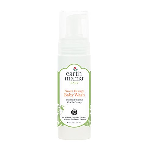 Earth Mama Sweet Orange Baby Wash Gentle Castile Soap for Sensitive Skin, 5.3-Fluid Ounce