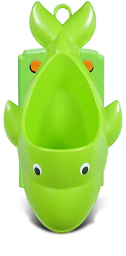 Tenby Living Green Dolphin Potty Training Urinal for Boys - Adjustable and Easy to Use for Toddlers