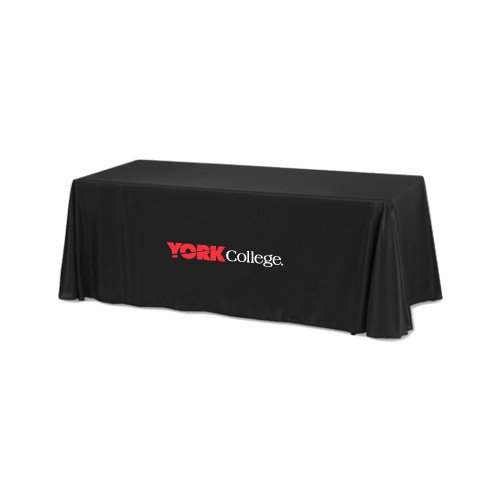 York College Black 6 foot Table Throw 'Official Logo' by CollegeFanGear