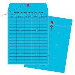 Envelopes Quality Park Interoffice (Quality Park QUA63577    String-Tie Interoffice Envelopes,1-Side Print, 10x13, Blue,100/Ctn)