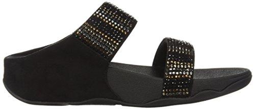 Fitflop Womens Flare Strobe Slide Sandaal Zwart