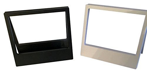 y Floating Frame, Display Case, Shadow Box, Excellent for Jewelry, Shells, Stones, Coin Display Box, Flowers collected (Set Big, Black-White) ()