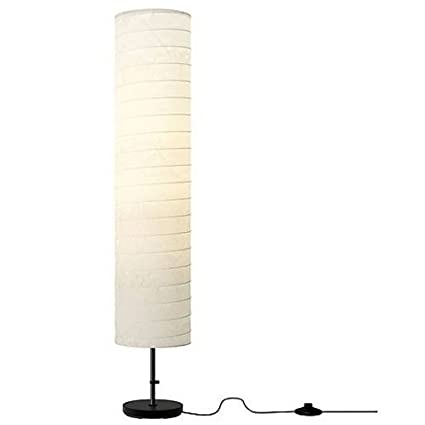 Floor Lamp Light Ikea Holmo With Rice Paper Shade Modern Contemporary New