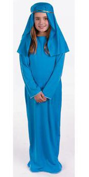 [Virgin Mary Saint Nativity Costume Girls 4-6] (Girls Virgin Mary Costume)