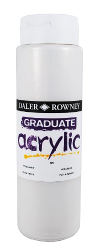 Daler - Rowney Graduate Acrylic 500ml Paint Ink Bottle - Pearl White from DALER-ROWNEY/FILA CO