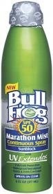 Bullfrog Marathon Mist Continuous Spray SPF 50 Sunscreen-6 oz