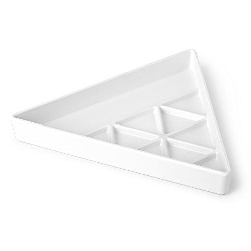 Umbra 1004035-660 Trinity Schmucktablett, Plastik, weiß, 24,13 x 20,95 x 3,81 cm