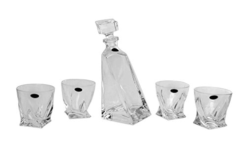 Amlong-Crystal-Lead-Free-Liquor-Decanter-and-Glass-Gift-Set-5-Pieces