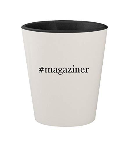 #magaziner - Ceramic Hashtag White Outer & Black Inner 1.5oz Shot Glass