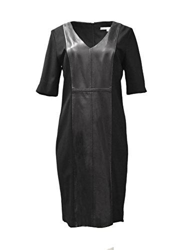 Womens Black Knit Degnan Donna Dress Ponte 12 Combo SZ 190210E Leather wO5UAq