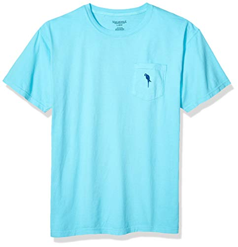 Margaritaville Men's Parrot ICON Pocket T-Shirt, Lagoon Blue, Medium ()