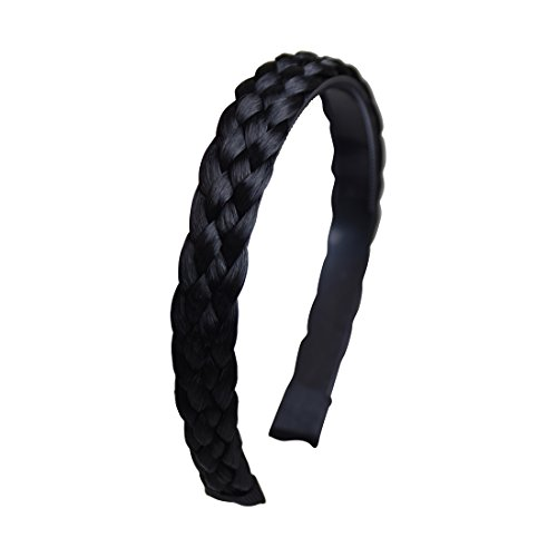 4 Strand Plait Braided Hard Headband Hair Bands - (4 Braid Band)