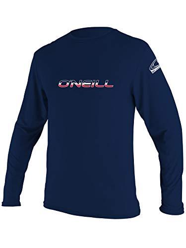 O'Neill Men's Basic Skins Longsleeve Rash Tee LT Navy (4339IS)
