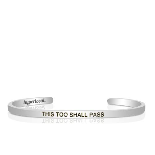 Hyperlocal This Too Shall Pass Jewelry Bracelet Cuff Engraved Personalized Hidden Message for Women Simple Bracelets Cuff Bangle Metal Motivational Inspirational Gift Keep Funking Going (This Too Shall Come To Pass Quote)