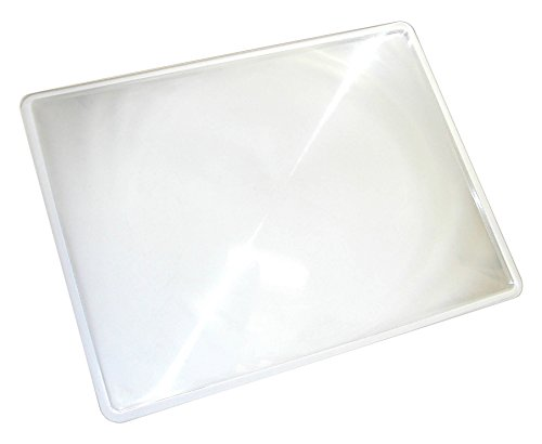 Carson 2x Power Rigid Frame 8.5x11 Inch Fresnel Page Magnifiers for Reading Newspapers, Magazines, Books and More - Set of 8