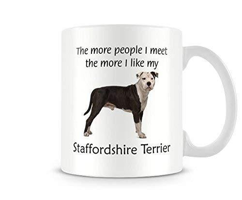 (Funny Dog Mug - I Like My Staffordshire Terrier Ceramic Coffee Mug Tea Mug Great Gift Idea)