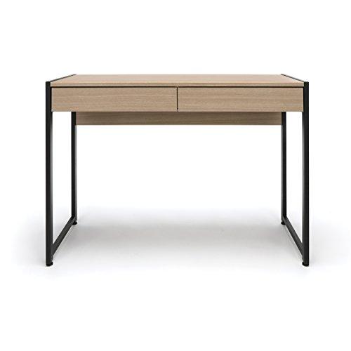 Essentials Office Desk with Drawers - Modern 2-Drawer Computer Desk and Workstation, Driftwood (ESS-1002-DWD)
