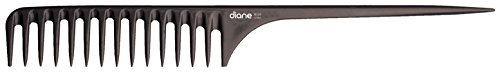"Diane 11.5"" Large Rat Tail Comb #39 Black"