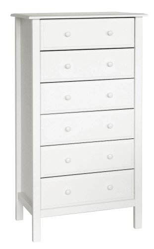 Davinci Jayden 6 Drawer Tall Dresser, - Six Tall Drawer Dresser