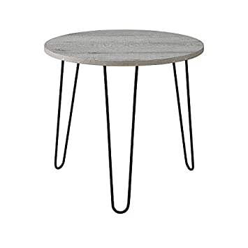 Classic Brands Mid-Century Modern Retro Hairpin Leg End Table Table, Rustic Grey