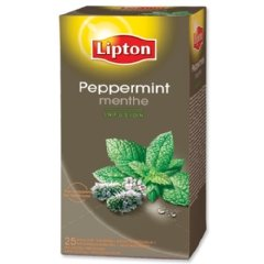 Lipton Herbal Tea with Peppermint - Premium Relax Tea (25 Count Tea Bags)