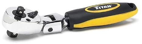 Titan 11050 1/4 & 3/8in Dr Automotive Ratchets Dual Head Stubby Ratchet