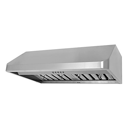 KOBE CHX9136SQB-1 Brillia 36-inch Under Cabinet Range Hood, 3-Speed, 680 CFM, LED Lights, Baffle - Hoods Range 36