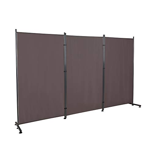 STEELAID Three Panel Unit Room Divider Office Partition Classroom and Dorm Privacy Screen 102 W X 71 H (Grey)