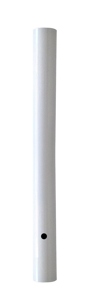 Wellite 48 Inch Outdoor Lamp Post Direct Burial Aluminum Post for Drive Way, White