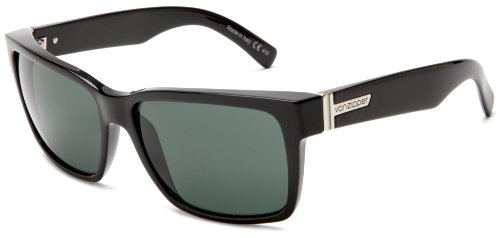 VonZipper Elmore Square Sunglasses,Black Gloss,One Size