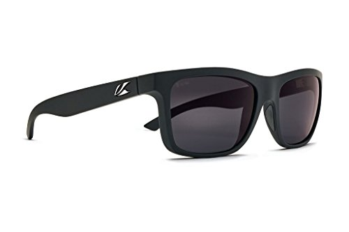 Kaenon Men's Clarke Polarized Fashion Sunglasses (Black Matte Grip, Ultra Grey 12 - Polarized)