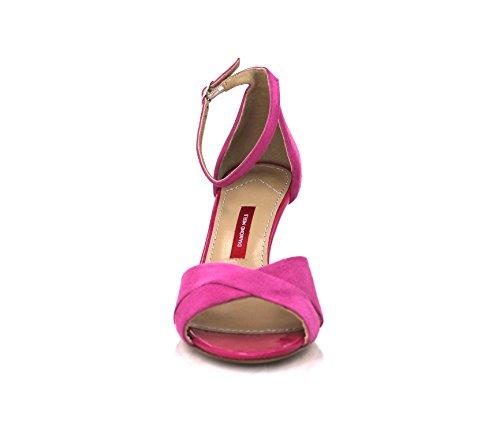 Diamond Heels Women's Fashion Sandals red fuchsia DPxUpy