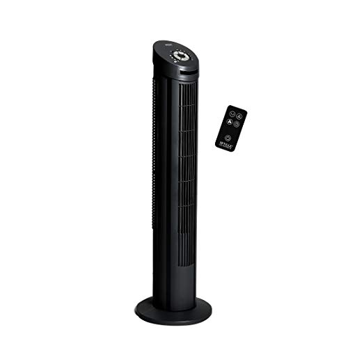 Seville Classics UltraSlimline 40 in. Oscillating Tower Fan, Black]()