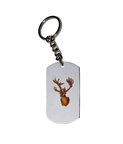 Emblem Key Chain w/ Metal Ring - Animal - Deer, Elk and Moose - Caribou Head