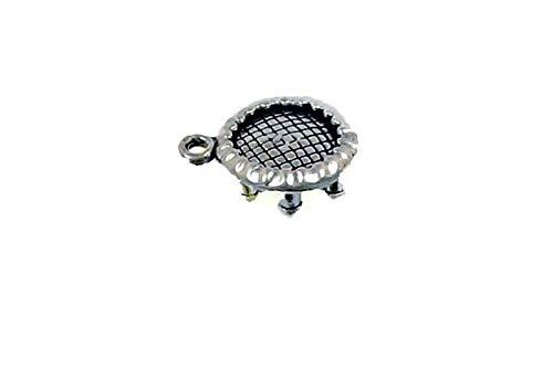 Pendant Jewelry Making/Chain Pendant/Bracelet Pendant Sterling Silver 3-D Trampoline or Rebounder Charm
