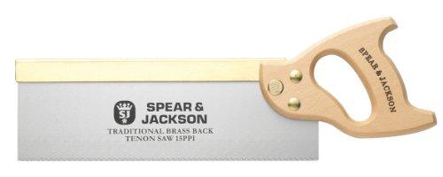 Spear & Jackson 9550B Traditional Brass Back Tenon Saw, 12 x 15, Brown/Silver