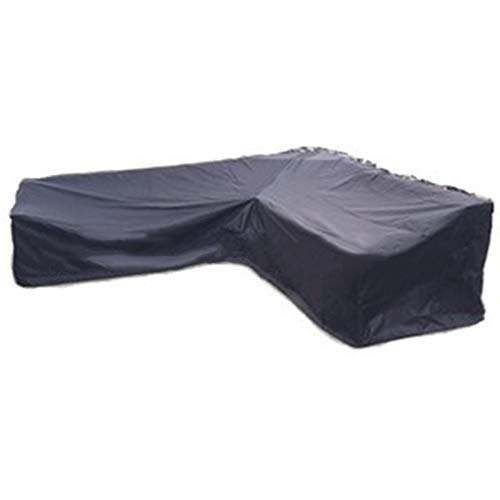 Patio Cover,Furniture Cover Protective Cover, Outdoor L-Shaped Sofa Cover Sofa Dust Cover, Polyester Waterproof/Sunscreen,Black,2909070cm