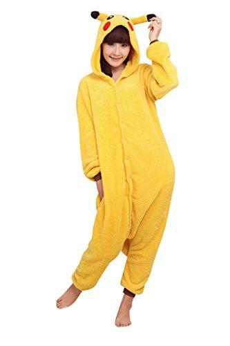 SaiDeng Unisex Warm Anime Costume Adult Cosplay Pajamas Homewear Size XL Pikachu - Pikachu Mascot Costume