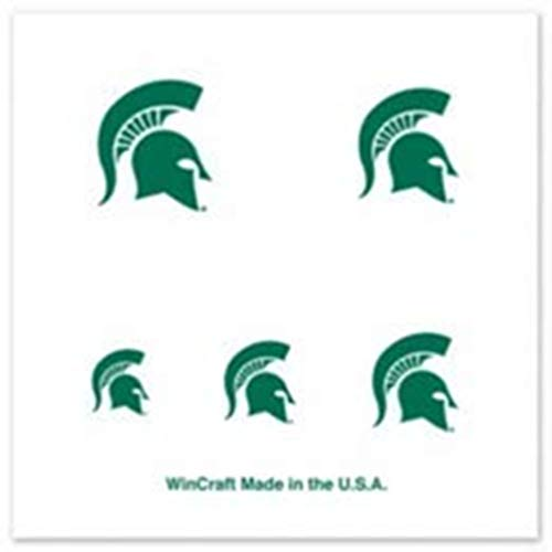 Nail Tattoos Temporary (NCAA Michigan State Spartans 4-Pack Temporary Nail Tattoos)