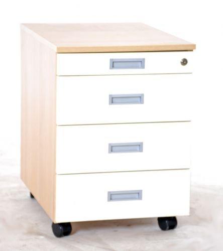 Cajonera con ruedas blancas, frontal, 35575, usadas Oficina Muebles: Amazon.es: Oficina y papelería