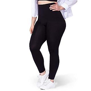 Shapermint High Waisted Leggings for Women - Tummy Control and Full Body Shaping Medium Black